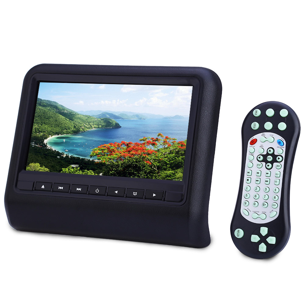 XD9901 Car Headrest DVD Player 800 x 480 LCD Screen with HDMI 9 Inch Backseat Monitor Built-in USB SD IR FM Speaker MHL aputure digital 7inch lcd field video monitor v screen vs 1 finehd field monitor accepts hdmi av for dslr