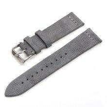 EACHE Suede Design specjalny i klasyczny pasek do zegarka z prawdziwej skóry 18mm 20mm 22mm akcesoria do zegarków paski do zegarków