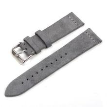 สายหนัง Suede ออกแบบพิเศษและคลาสสิกหนังแท้ 18 มม.20 มม.22 มม.นาฬิกาอุปกรณ์เสริมนาฬิกา