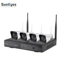 SunEyes SP JK904W JK1804W 4CH HD Wireless IP Camera And NVR Kit Plug And Play Connection