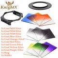 KnightX Окончил nd Фильтр Комплект для Cokin P для Nikon Canon EOS 1100D 1000D 600D 550D 500D 650d 70d d7200 линзы d90 6D камеры