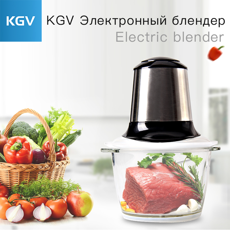 KGV mixer desktop kitchen food stainless steel processor soy milk machine juicer home appliances smoothie blender multifunction wavelets processor