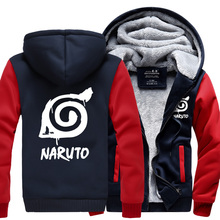Fashion Naruto Jacket Winter Luminous Coat  Anime Uchiha Sasuke Cosplay Coat Uzumaki Naruto Hoodie Sweatshirt For Big Boys Kids