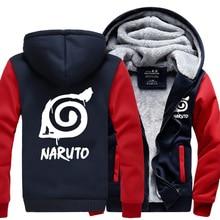 Fashion Naruto Jacket Winter Luminous Coat  Anime Uchiha Sasuke Cosplay Coat Uzumaki Naruto Hoodie Sweatshirt For Big Boys Kids