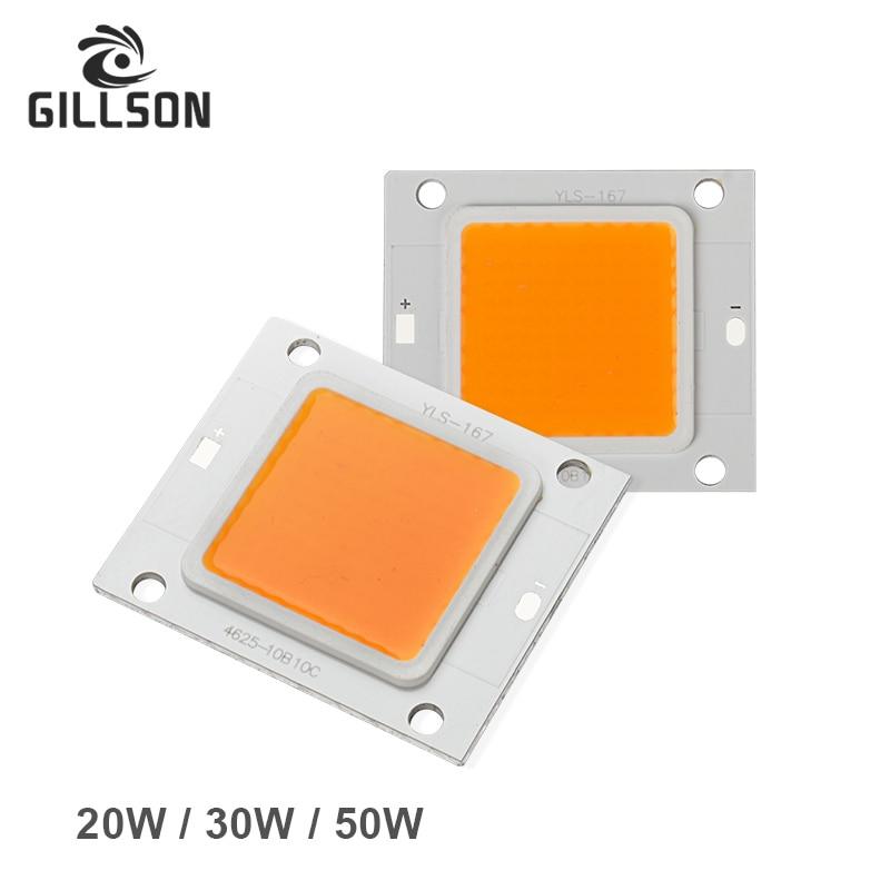 GILLSON New Design High Power COB Integrated LED lamp Chip 20W 30W 50W DC 27V-36V light Source DIY Floodlight Spotlight Bulb