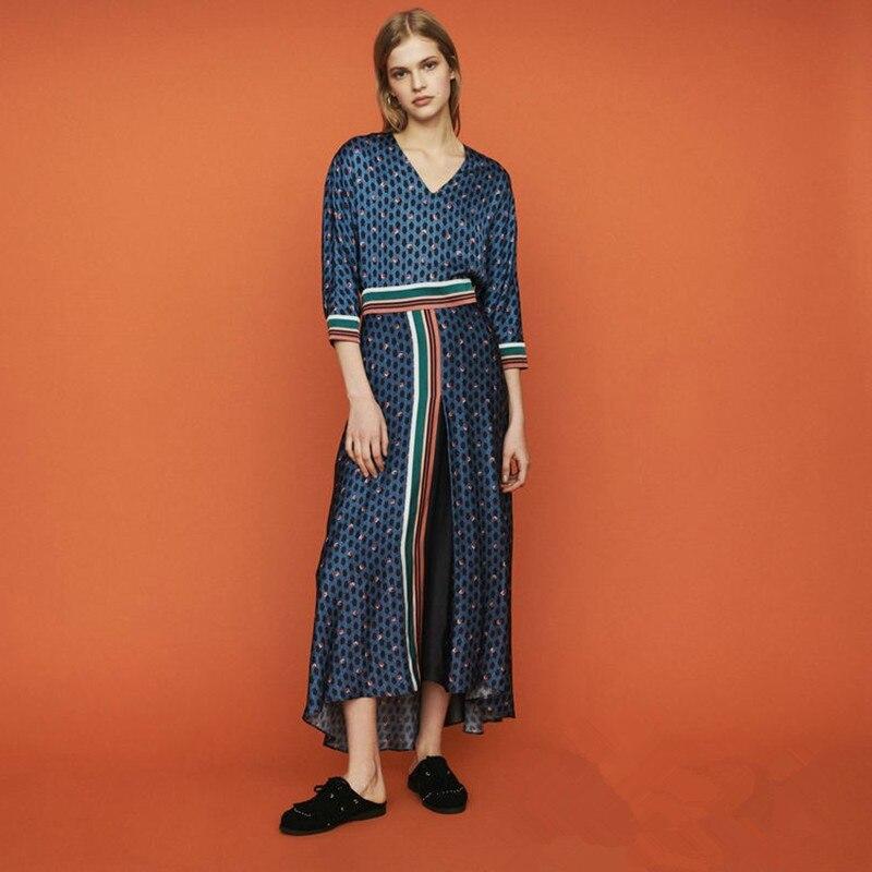 2019 nowy kobiety kwiat podział wydruku sukienka w dużym rozmiarze w stylu Vintage Backless długa sukienka w Suknie od Odzież damska na AliExpress - 11.11_Double 11Singles' Day 1