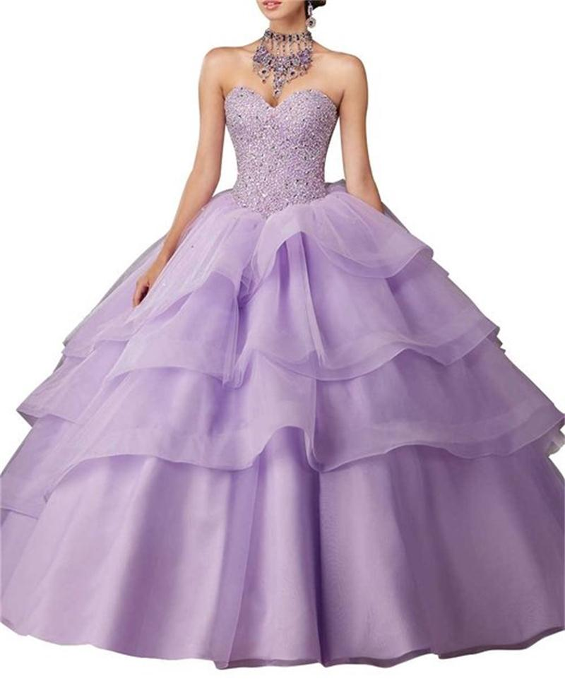 2017 New Arrival Light Purple Wedding Dresses Ball Gowns