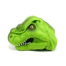 Smart Analog 3D Dinosaur Hand Puppet Soft Rubber Jurassic Green Tyrannosaurus Toy Story Props
