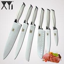 XYj японский шеф повар нержавеющая сталь ножи кухонные ножи 8 «5» 7 «3,5» Кливер для очистки овощей Santoku нарезки утилита Новый пособия по кулинарии