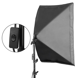 Image 4 - 50*70CM Photography Studio Wired Softbox Lamp Holder with E27 Socket for Studio Continuous Lighting Fotografie Accessoires