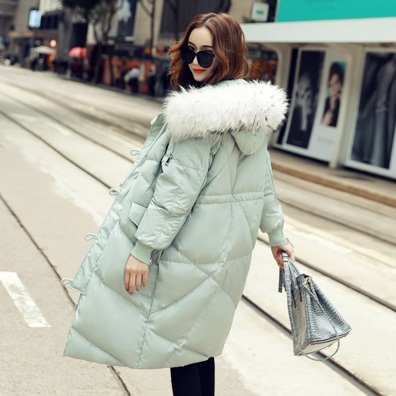 Fashion Coat 2017 New Korean Winter Fur Collar Jacket Women Wide-waisted Casual Thick Long Winter Coat Women Casaco Plus Size