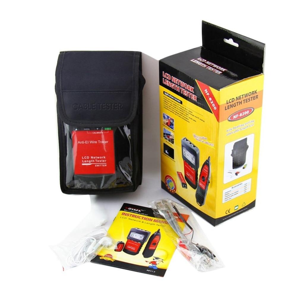 Noyafa LAN RJ45 testeur de câble réseau Ethernet testeur de longueur de câble avec écran LCD rétro-éclairage - 6