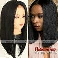 Moda linha fina natural do cabelo cor preta dianteira do laço sintético perucas curto bob perucas de fibra sintética do cabelo reto de seda para as mulheres