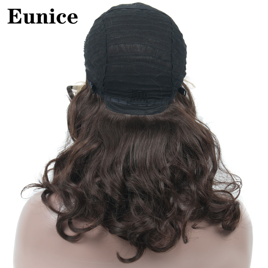 Long Big Wavy Wigs Synthetic Blonde Lace Front Wigs 20inch Black Hair Heat Resistant Wig for Black Or White Women Eunice Hair in Synthetic None Lace Wigs from Hair Extensions Wigs