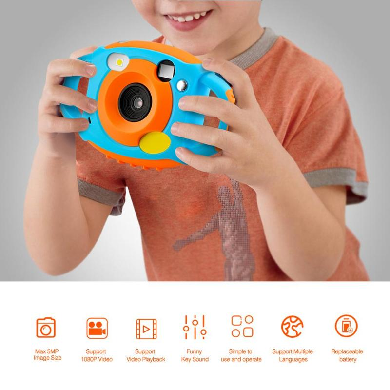 """1080P 5MP child camera Cartoon 1.77"""" Mini LCD Camera HD 500W Digital Camera For Kids Camcorders For Children baby Automatic Came"""