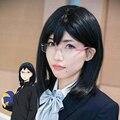 Haikyuu!! Haikyu!! Kiyoko Shimizu Synthetic Hair Black Bob Cosplay Wig Free Shipping
