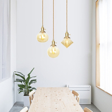 Nordic Loft LED Glass Pendant Lights Modern Industrial Wind Copper Lamps Restaurant Living Room Decor Lighting Luminaire