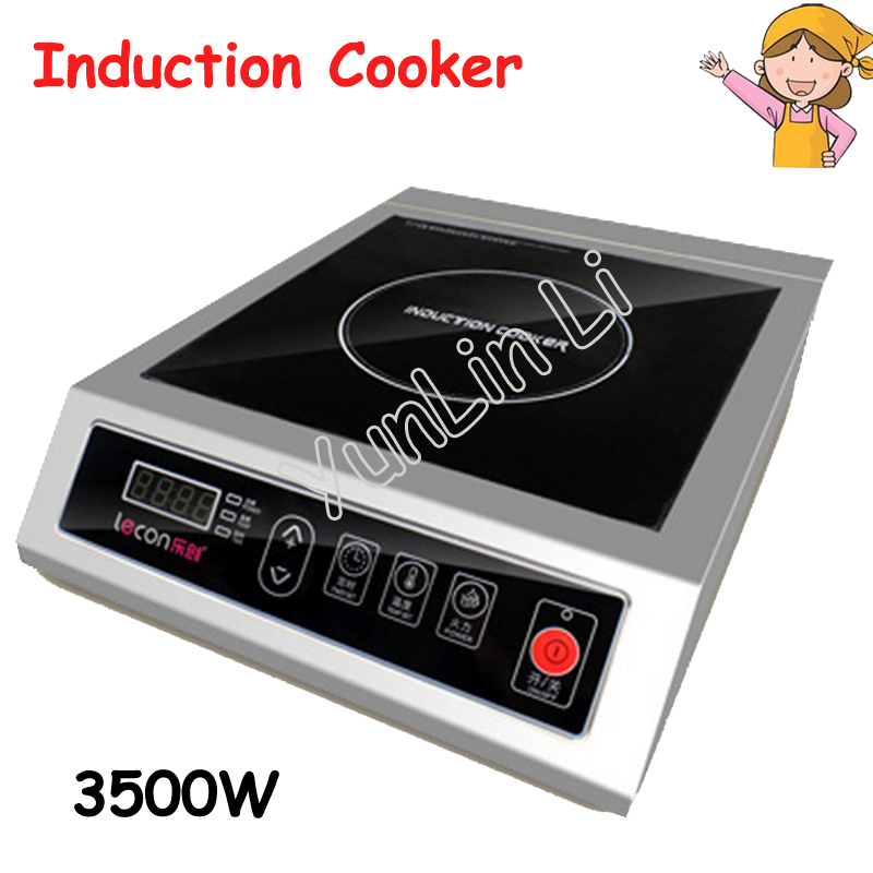 3500W Commercial Induction Cooker Flat High Power Induction Cooker Industrial Induction Cooker Hotel Stove Furnace LC-3500 dmwd electric induction cooker waterproof high power button magnetic induction cooker intelligent hot pot stove 110v 220v eu us