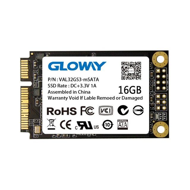 Gloway 256GB/128GB/64GB/32GB/16GB mSATA Hard Drive SSD Internal Solid State Drives