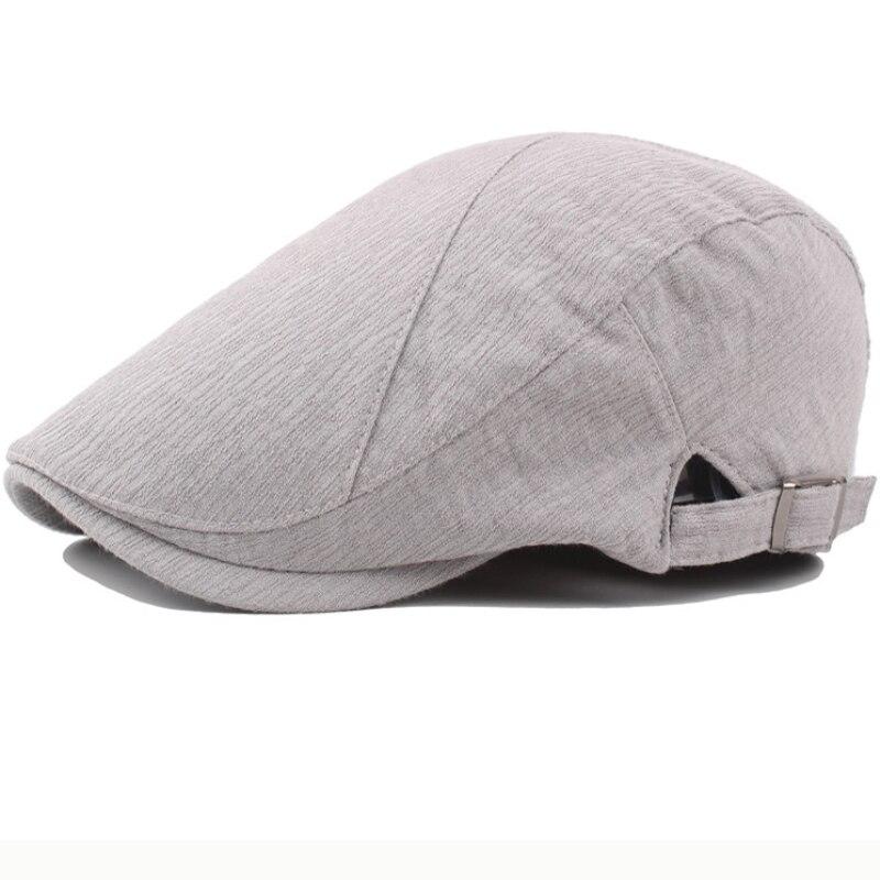 Vintage Cotton Linen Flat Cap 6