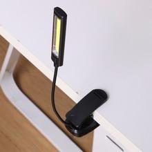 цена на Night light Clip light USB mini led Flexible Bright Desk Clip-On book Reading Lamp Book light rechargeable abajur pokemon figure