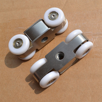 Free Shipping Door Roller Ultra Quiet Wooden Furniture Sliding Door Pulley Hanging Track Nylon Wheel Glass