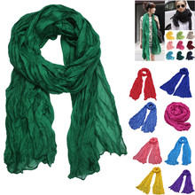 KANCOOLD модный 1 шт. 10 цветов женский шифоновый однотонный шарф шаль для девочек Рождественский подарок Ретро многофункциональная шаль шарф S10 SE13