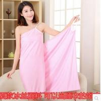 Summer lady swimming towel ice silk non-pure cotton adult harness suction Han beach towel sunscreen towel service