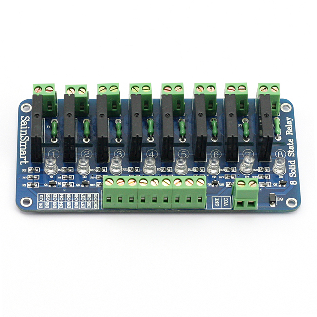 2015 upgrade version sainsmart 8 channel 5v solid state relay module board omron ssr 4 pic arm