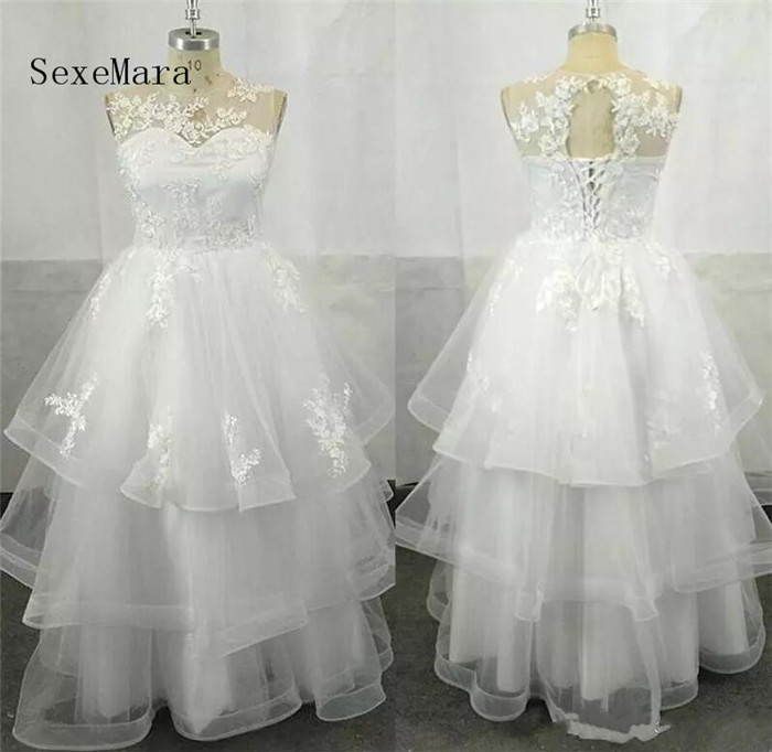 все цены на Real Picture Tiered Birthday Girl Flower Girl Dresses Sleeveless Lace Applique Lace Up Organza Communion Dresses Pageant Gown