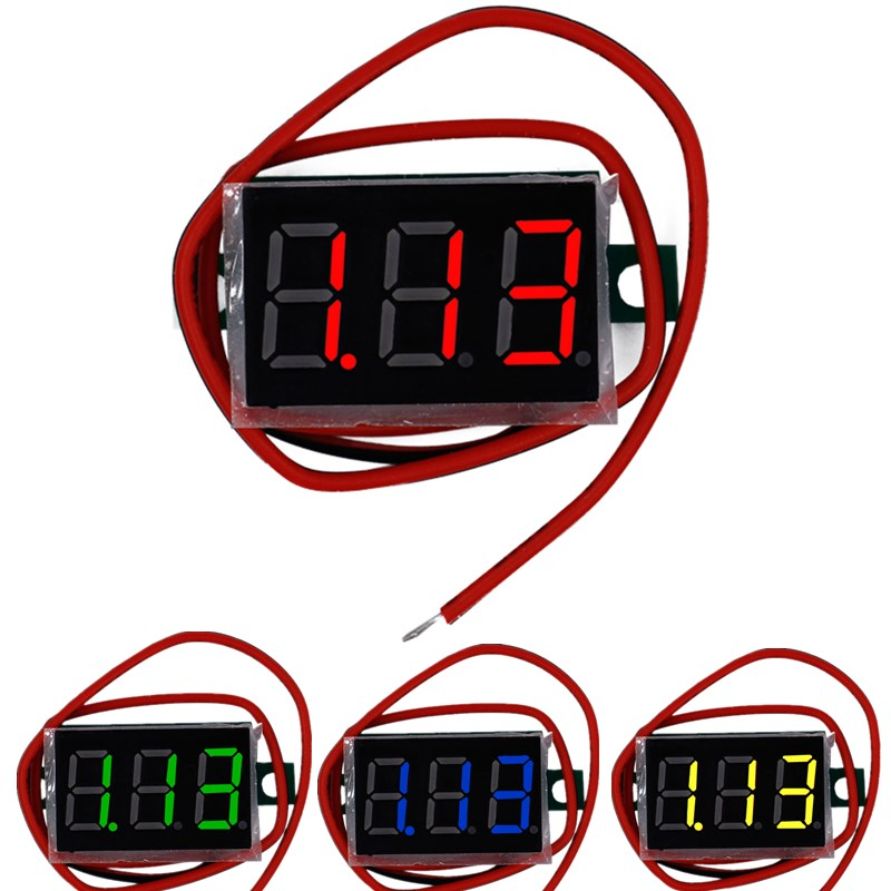 Red LED display Mini Digital 4.5v-30v Voltmeter tester Voltage Panel Meter For Electromobile Motorcycle car 47%Off digital voltmeter dc 4 5v to 30v digital voltmeter voltage panel meter red blue green for 6v 12v electromobile motorcycle car