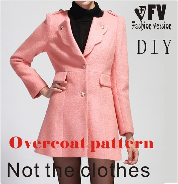 Clothing Diy Overcoat Sewing Pattern Coat Sewing Template Cutting
