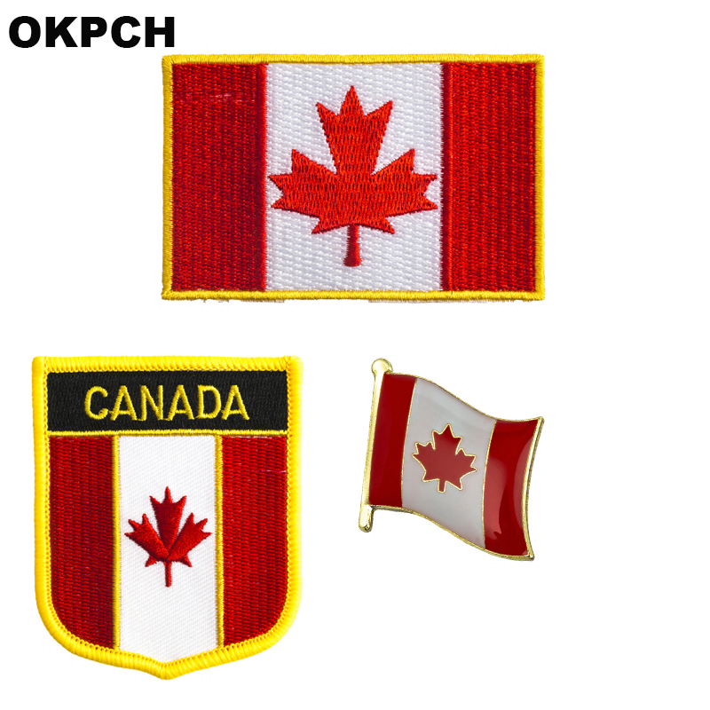 CANADA Country Flag Extra Small Embroidered Iron-On PATCH CREST BADGE.New