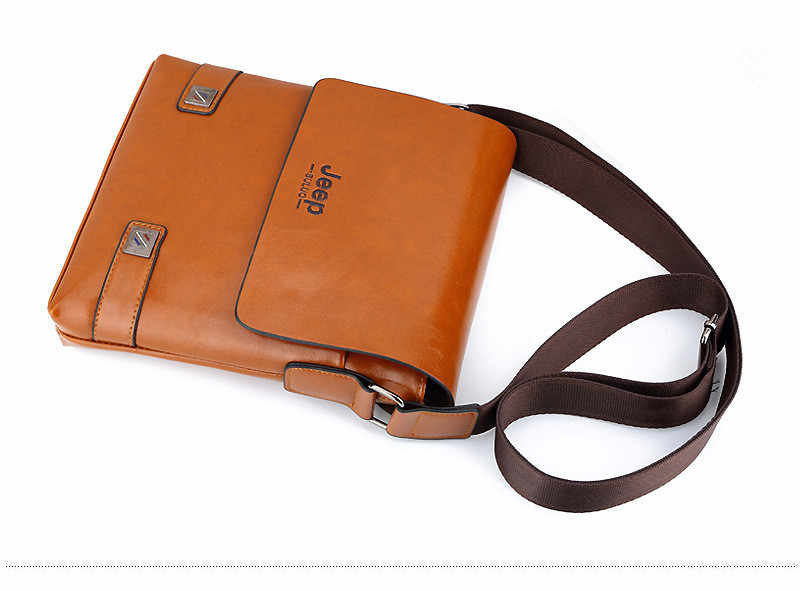 2f27ee7317b ... HENGSHENG Luxury PU leather men shoulder bags of JEEP leather men  messenger bag by cover open ...