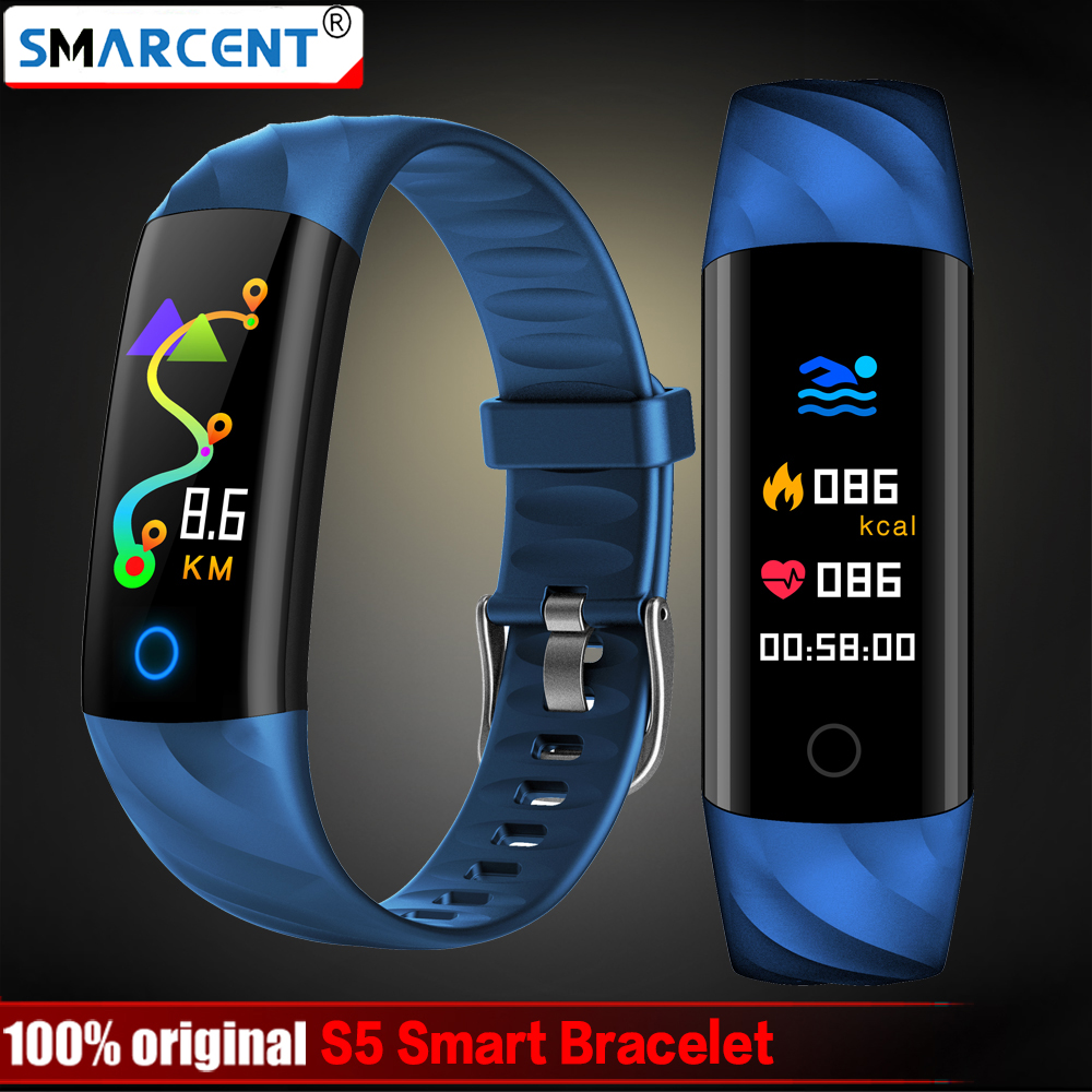S5 Heart Rate Smart Fitness Bracelet IP68 Waterproof Blood pressure oxygen Monitor Color Screen Activity Tracker Smart Band image