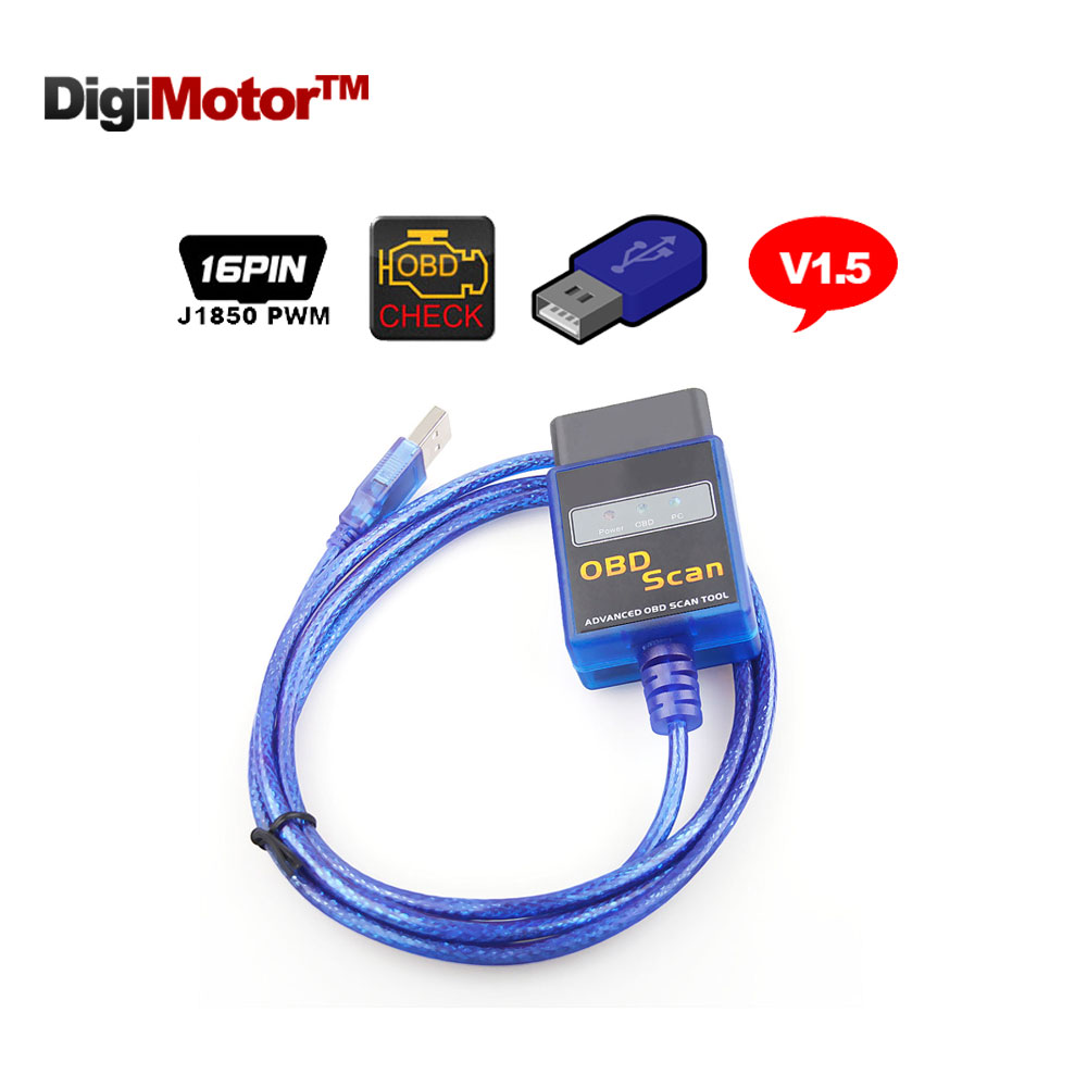 Prix pour ELM 327 V 1.5 USB OBD2 EOBD CANBUS Scanner Automotriz Scanner automobile Scan Outils Lecteur de Code OBD 2 Adaptateur V1.5 ELM327 OBDII