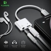 FLOVEME 2в1 адаптер для iPhone X XS MAX 7 8 6 Plus аудио разветвитель заряда конвертер для освещения 3,5 мм разъем для наушников адаптер