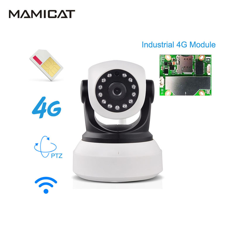 1080 P 4G 3G PTZ sans fil carte SIM caméra IP WiFi batterie P2P CCTV bébé sécurité à domicile Surveillance Audio IR nuit vidéo caméra