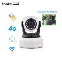 720P HD 4G 3G PTZ Wireless SIM Card IP Camera WiFi Battery P2P CCTV Baby Home Security Surveillance Audio IR Night Video Camera