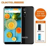 Оформление Oukitel C8 5,5 дюйма 18:9 мобильный телефон MTK6580A 4 ядра 2 Гб Оперативная память 16 Гб Встроенная память 13MP Android 7,0 3000 mAh Touch ID смартфон