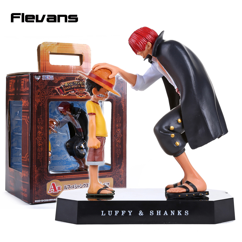 Anime One Piece Child Monkey D Luffy Shanks PVC Figure Collectible Model Toy OPFG428