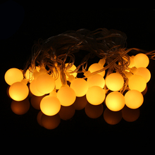 Ball String Lights LED 5M Christmas Tree Decoration for Home Outdoor Xmas Garden Ornament Holiday Fairy Lights Indoor US EU Plug