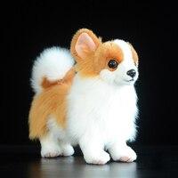 21 cm Kawaii Simulazione Pomerania Peluche Morbido In Piedi Versione Yellow Dog Giocattolo Farcito Bambole Per Bambini Giocattoli Regali