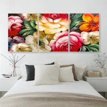 Настенная абстрактная картина laeacco с цветами холст постеры