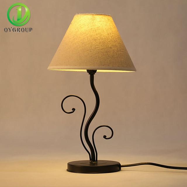 2 PACK Led Lampe Beleuchtung Halter Tischlampe Eisen Basis Stoff Lampenschirm Schlafzimmer Wohnzimmer Dekoration Lichter