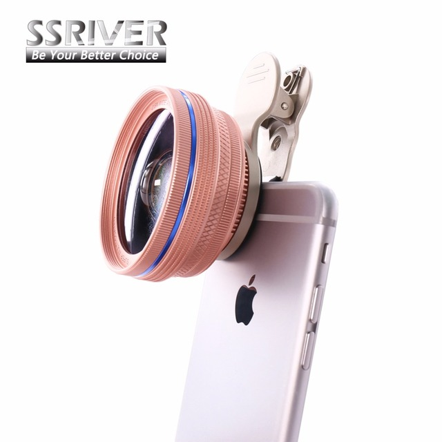 0.6x SSRIVER 2 em 1 Universal lente grande angular HD Lente Da Câmera Kit para iphone 5 6 7 plus para samsung galaxy s7 s6 s5 telefone lente