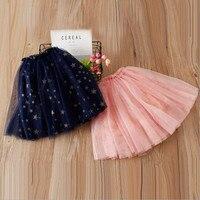 DFXD 2018 Spring New Fashion Children Tutu Skirt High Quality Net Yarn Five Star Princess Skirt