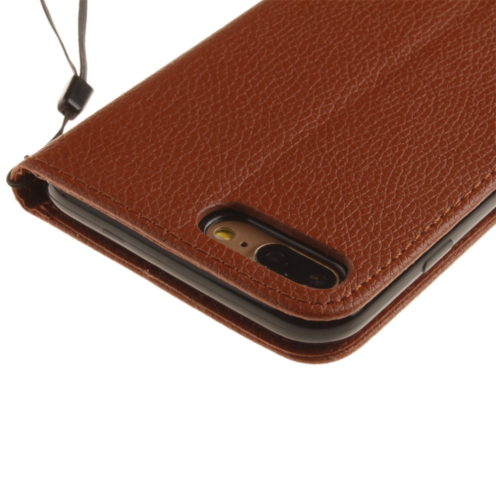 PU Leather Case Flip Type Stand Design Smart Phone Full Protective Cover Case Suitable For iPhone7plus 3 Color Optional