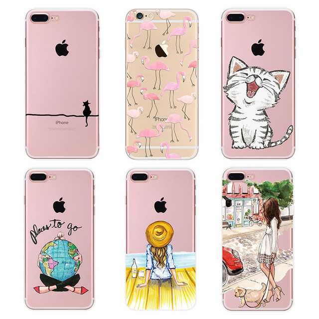 Soft TPU Phone Case For iPhone 5 5s 6 6s 7 8 Plus Ultra-Thin Silicone Case Cover For iPhone 6 6s 7 Plus Case For iPhone 8 PC-153