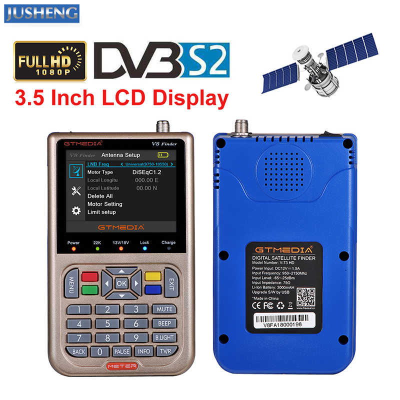 "GTMEDIA V8 Finder Digitale Satelliet TV Signal Finder HD DVB-S2 High Definition 3.5 ""LCD Satellite Finder MPEG-2-4"